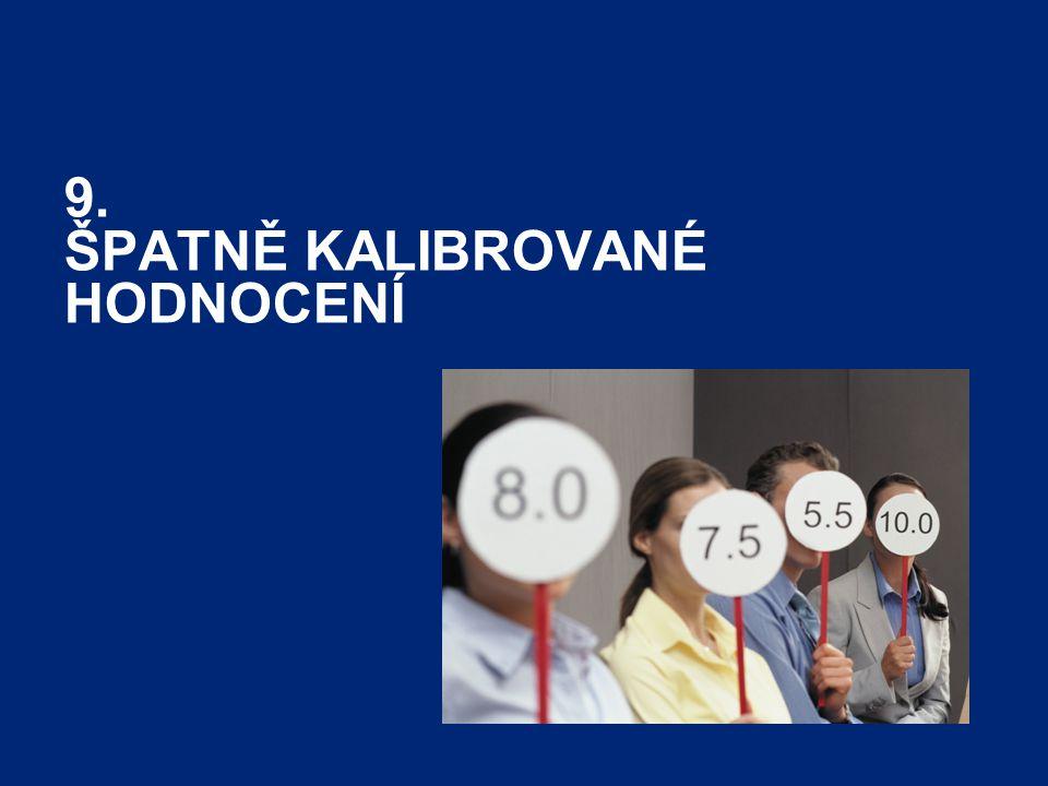 Performance and Career Tracker32 9. ŠPATNĚ KALIBROVANÉ HODNOCENÍ