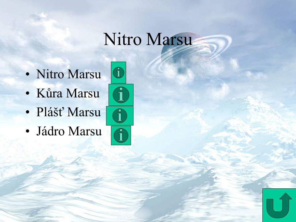 Nitro Marsu Kůra Marsu Plášť Marsu Jádro Marsu