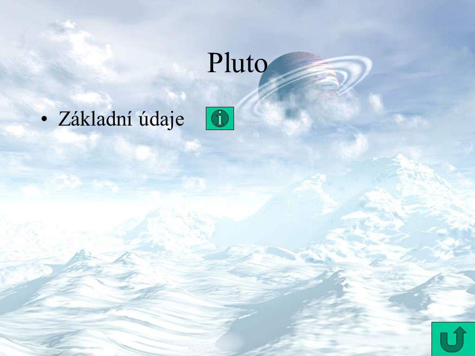 Pluto Základní údaje