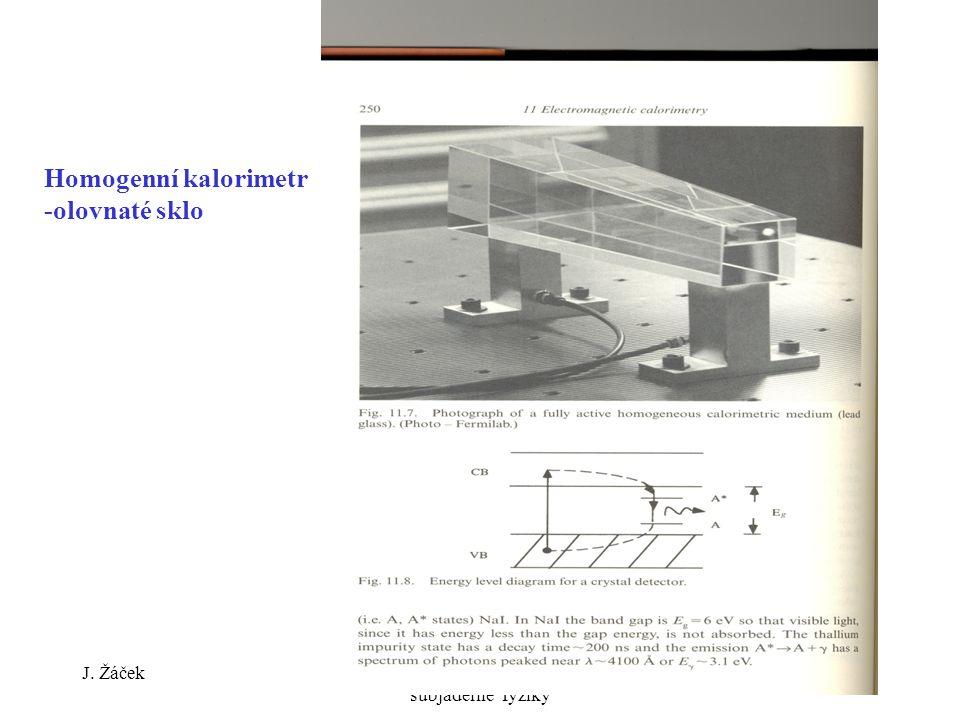 J. ŽáčekExperimentální metody jaderné a subjaderné fyziky 32 Homogenní kalorimetr -olovnaté sklo