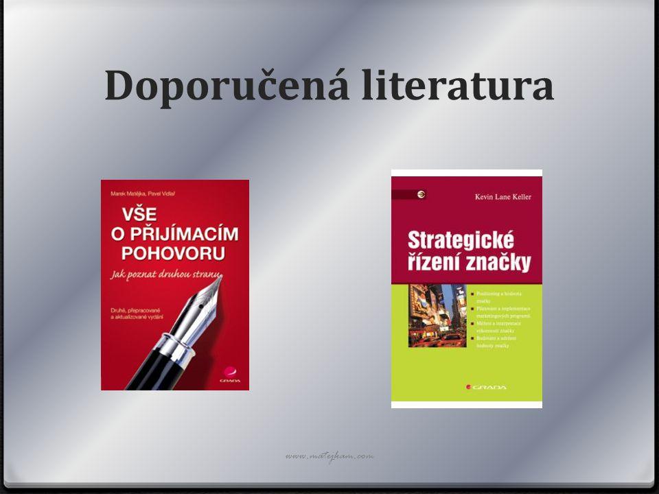 Doporučená literatura www.matejkam.com