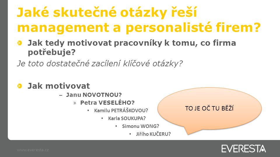 Trocha teorie www.everesta.cz Vroomova teorie očekávání očekávání