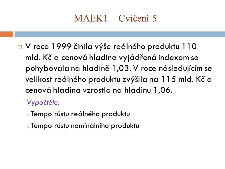  V roce 1999 činila výše reálného produktu 110 mld.