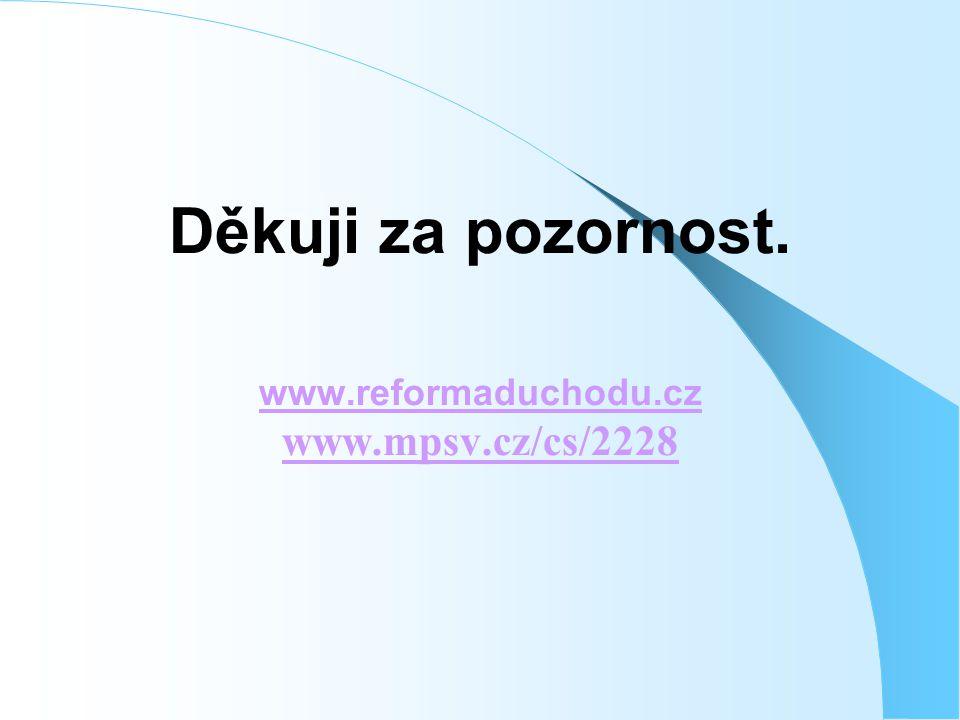Děkuji za pozornost. www.reformaduchodu.cz www.mpsv.cz/cs/2228