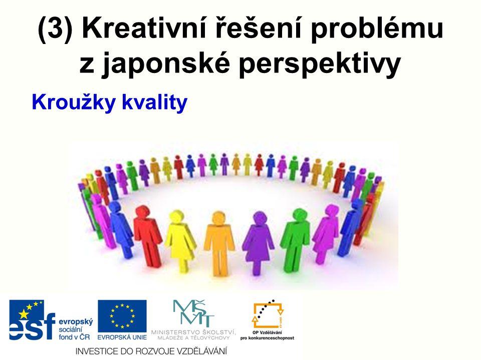 (3) Kreativní řešení problému z japonské perspektivy Kroužky kvality