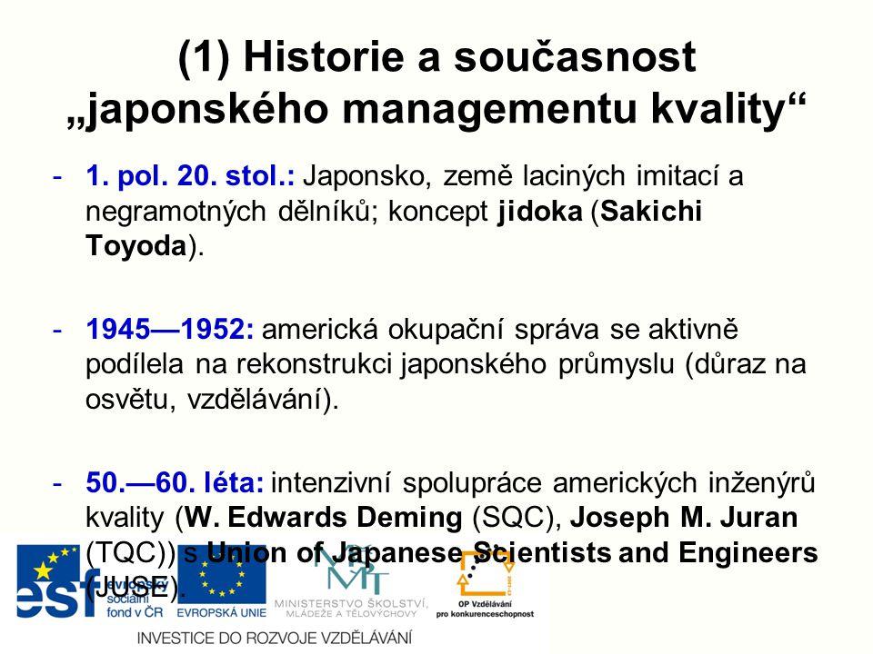"""(1) Historie a současnost """"japonského managementu kvality"""" -1. pol. 20. stol.: Japonsko, země laciných imitací a negramotných dělníků; koncept jidoka"""