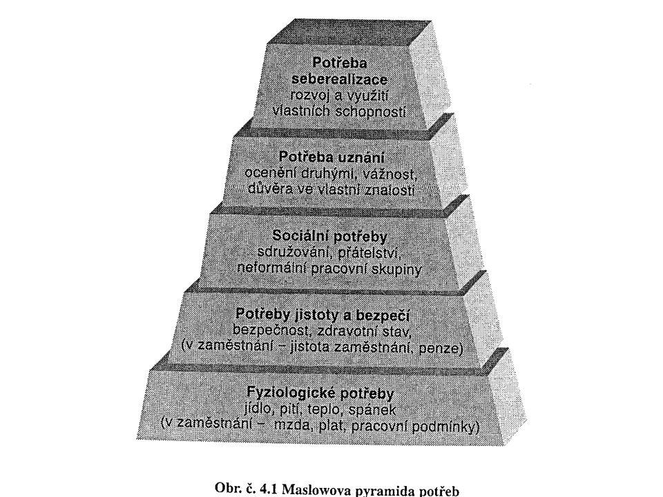 Uplatnění pracovníka v pracovním procesu Struktura požadavků na pracovníka