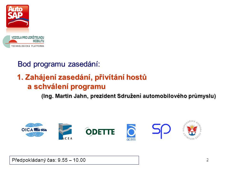 Projednáno na zasedání Revizní skupiny AutoSAP 24.