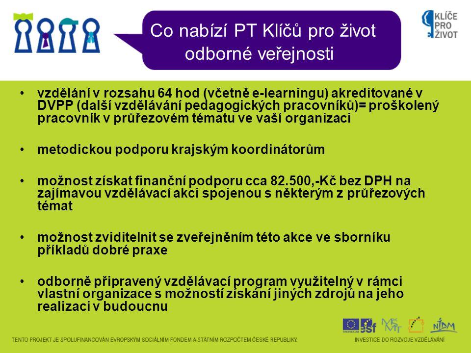 Struktura aktivit PT v každém kraji pro každé PT byl vybrán 1 dodavatel vzdělávacích aktivit, stejný pro všechny kraje, tj.