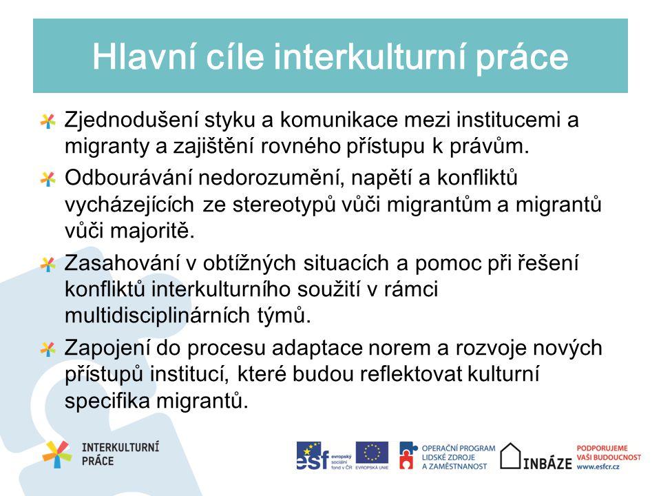 Zjednodušení styku a komunikace mezi institucemi a migranty a zajištění rovného přístupu k právům.