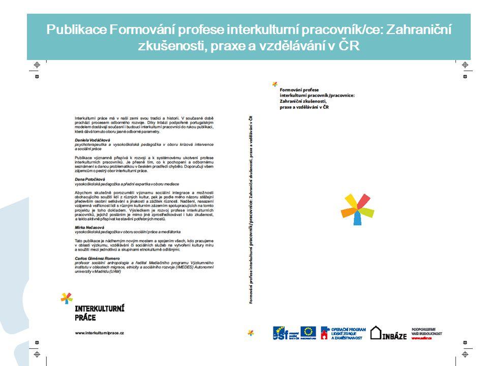 Publikace Formování profese interkulturní pracovník/ce: Zahraniční zkušenosti, praxe a vzdělávání v ČR