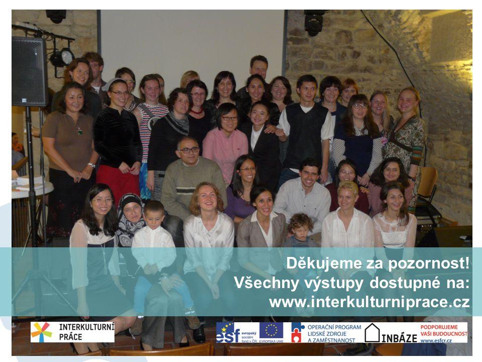 Děkujeme za pozornost! Všechny výstupy dostupné na: www.interkulturniprace.cz