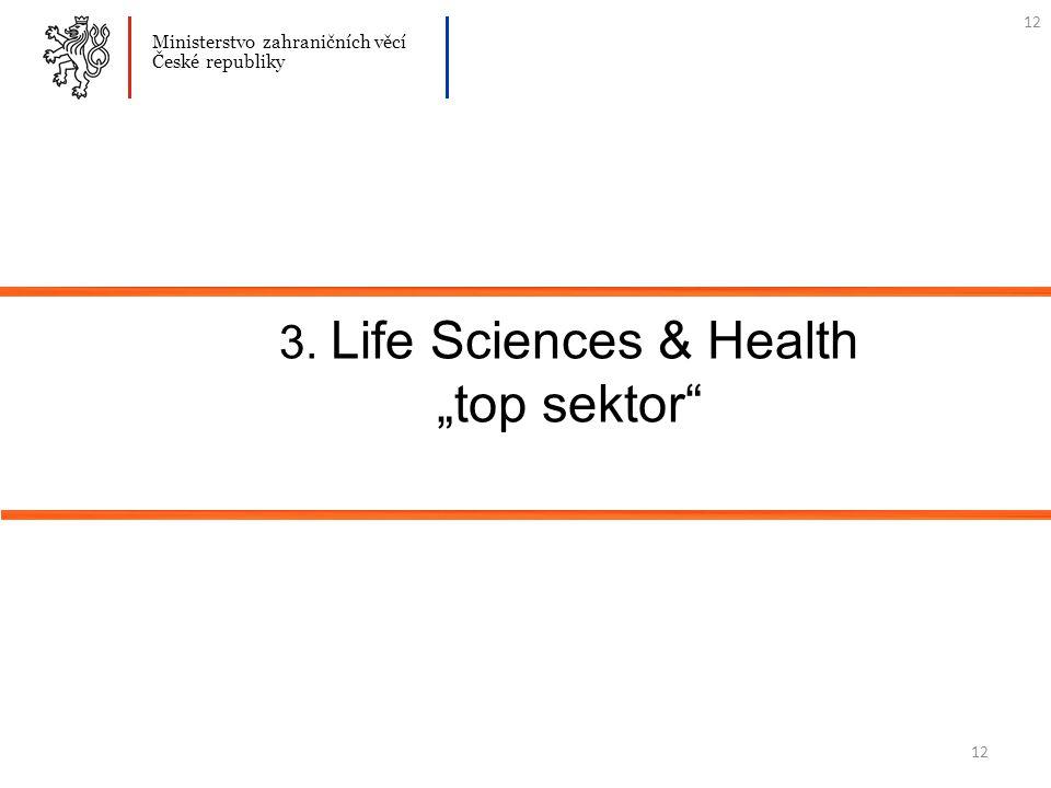"""12 3. Life Sciences & Health """"top sektor Ministerstvo zahraničních věcí České republiky 12"""