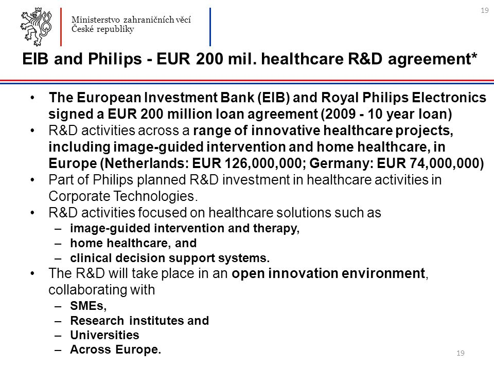19 EIB and Philips - EUR 200 mil.