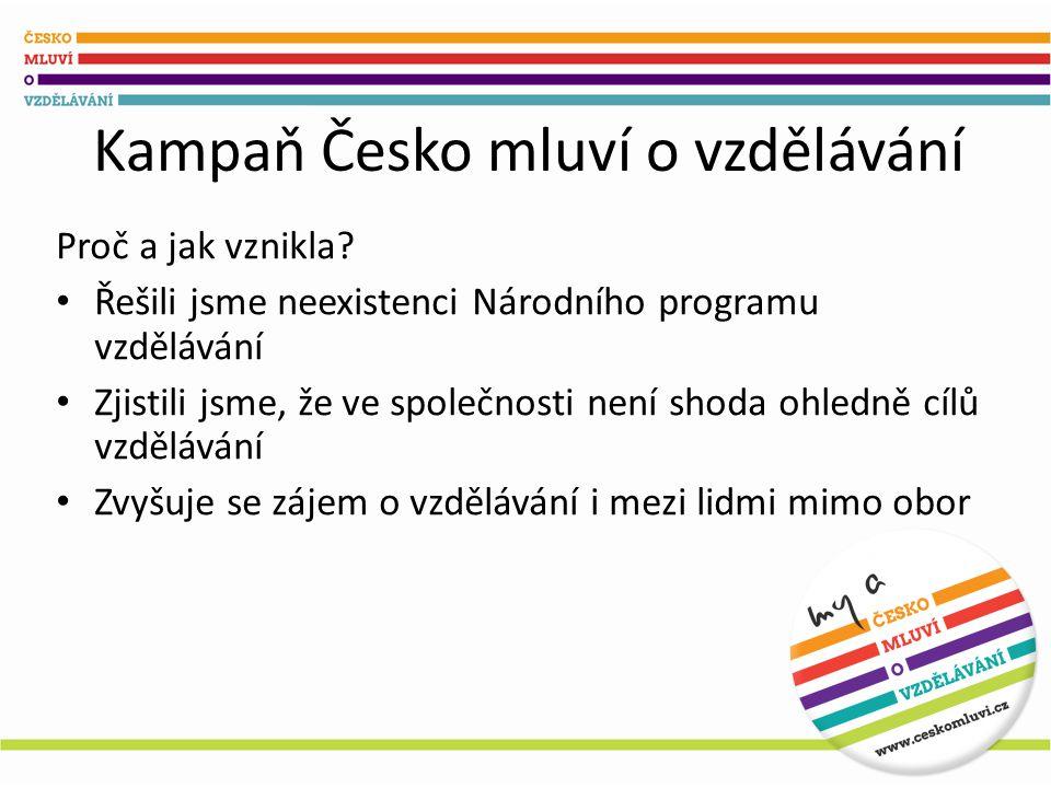 Kampaň Česko mluví o vzdělávání Proč a jak vznikla.