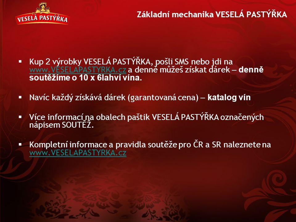 Základní mechanika VESELÁ PASTÝŘKA  Kup 2 výrobk y VESELÁ PASTÝŘKA, pošli SMS nebo jdi na www.VESELAPASTYRKA.cz a denně můžeš získat dárek – denně so