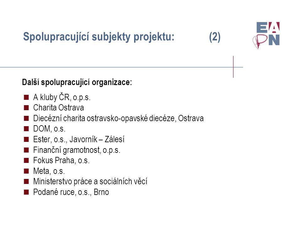 Průběh setkání:  Dvoudenní setkání v Praze (15.-16.4.2010)  Zástupci cílových skupin (po 2- 3 lidech z každé cílové skupiny)