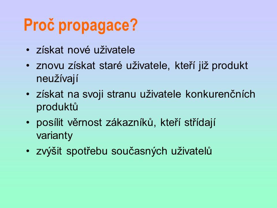 Reklama + funkce reklamy Placená forma neosobní prezentace produktu Informační přesvědčovací upomínací
