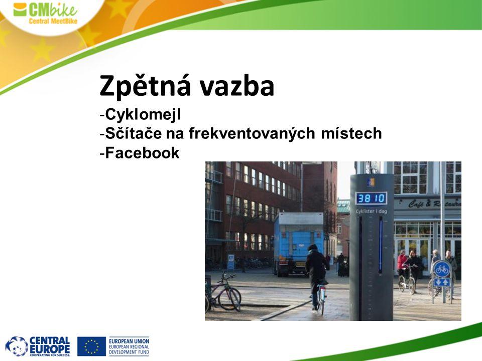 Zpětná vazba -Cyklomejl -Sčítače na frekventovaných místech -Facebook