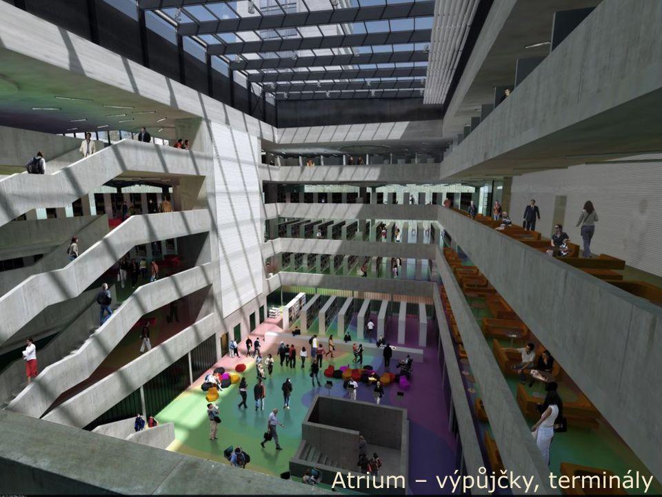 S TÁTNÍ TECHNICKÁ KNIHOVNA 3. 6. 2008, METLIB Prague'08 NTL / Martin Svoboda 17 Atrium – výpůjčky, terminály
