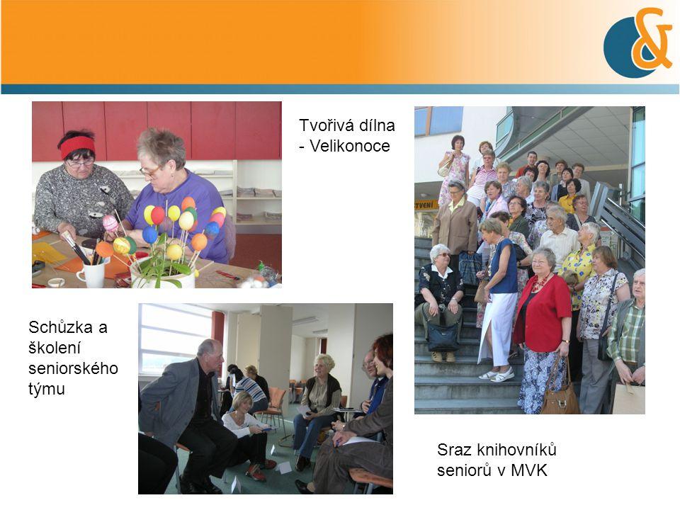 Tvořivá dílna - Velikonoce Schůzka a školení seniorského týmu Sraz knihovníků seniorů v MVK