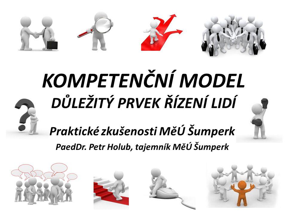 KOMPETENČNÍ MODEL DŮLEŽITÝ PRVEK ŘÍZENÍ LIDÍ Praktické zkušenosti MěÚ Šumperk PaedDr. Petr Holub, tajemník MěÚ Šumperk