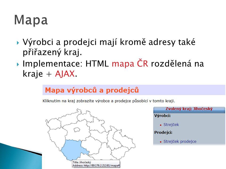  Administrační rozhraní: obrázky, články, pořadí menu, lokality, uživatelé…  Možnost publikovat/skrýt článek/produkt.