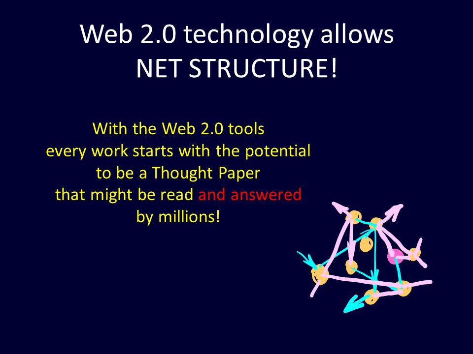Web 2.0 technology allows NET STRUCTURE.