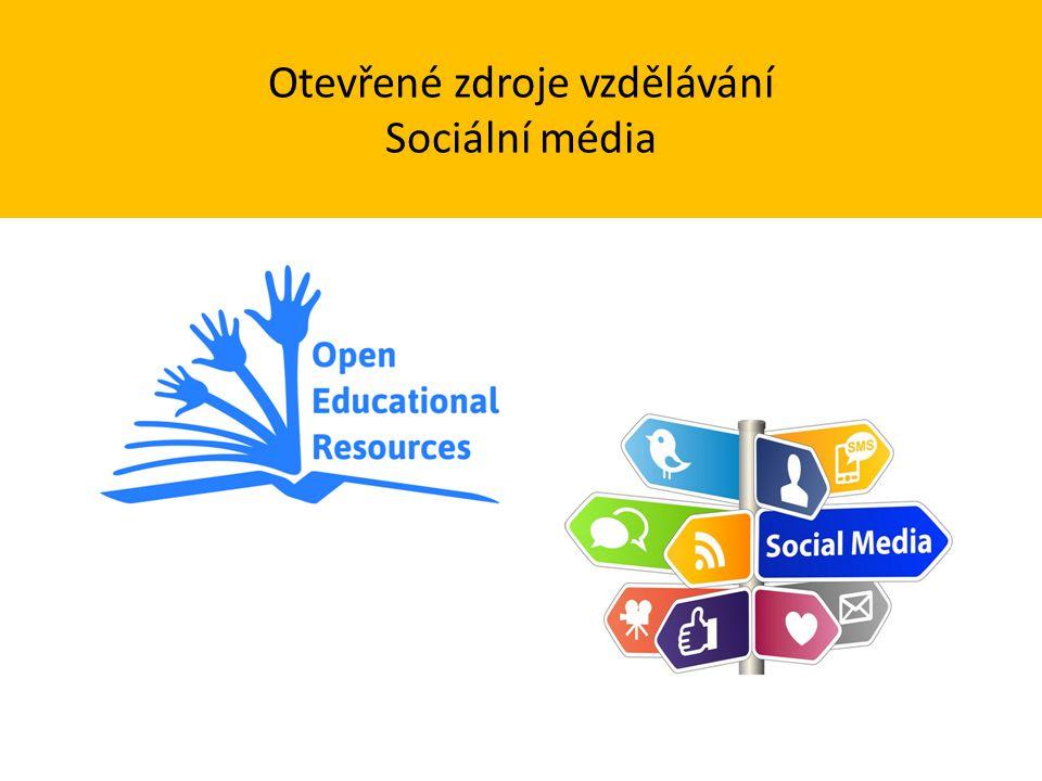 Otevřené zdroje vzdělávání Sociální média