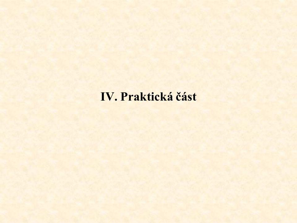 IV. Praktická část