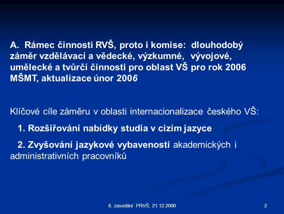 28. zasedání PRVŠ, 21.12.2006 A.