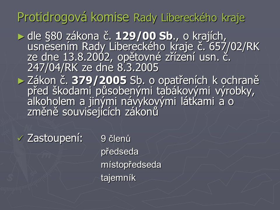Protidrogová komise Rady Libereckého kraje ► dle §80 zákona č.