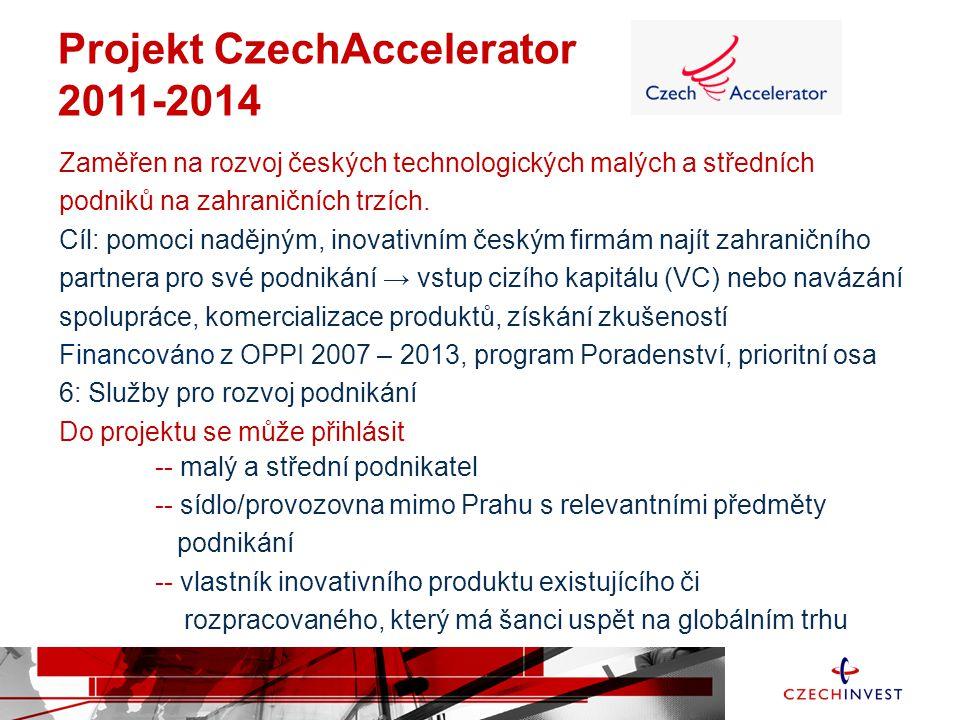 Zaměřen na rozvoj českých technologických malých a středních podniků na zahraničních trzích. Cíl: pomoci nadějným, inovativním českým firmám najít zah