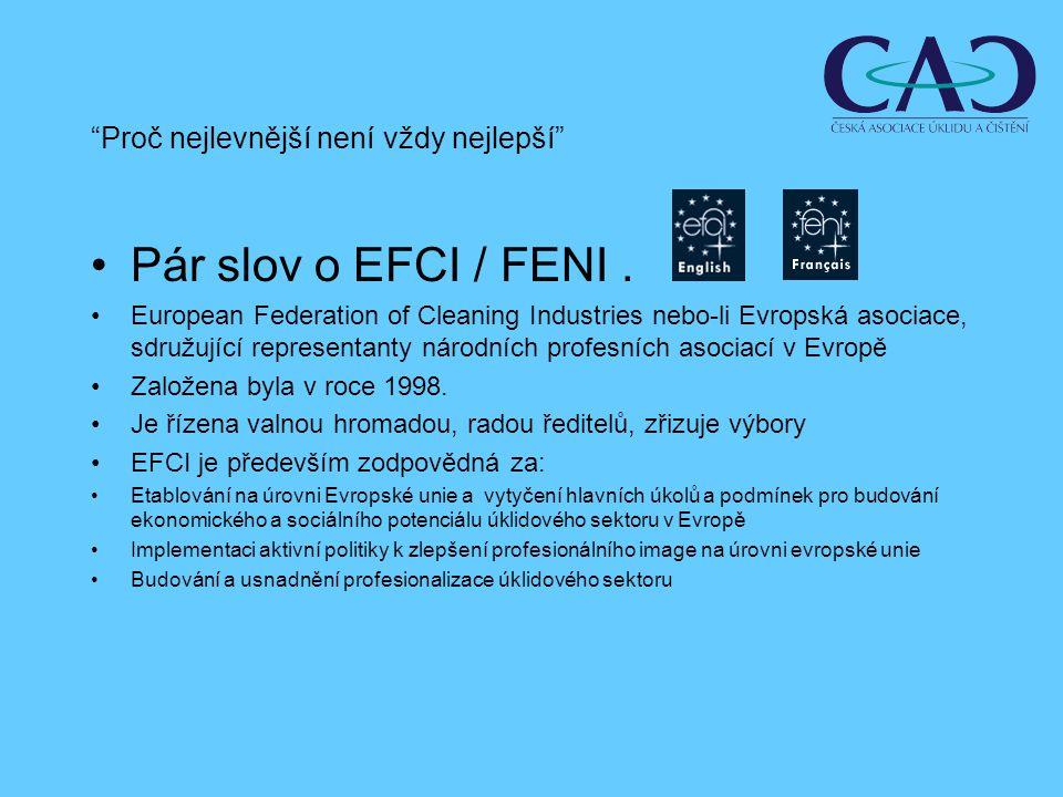 Pár slov o EFCI / FENI.