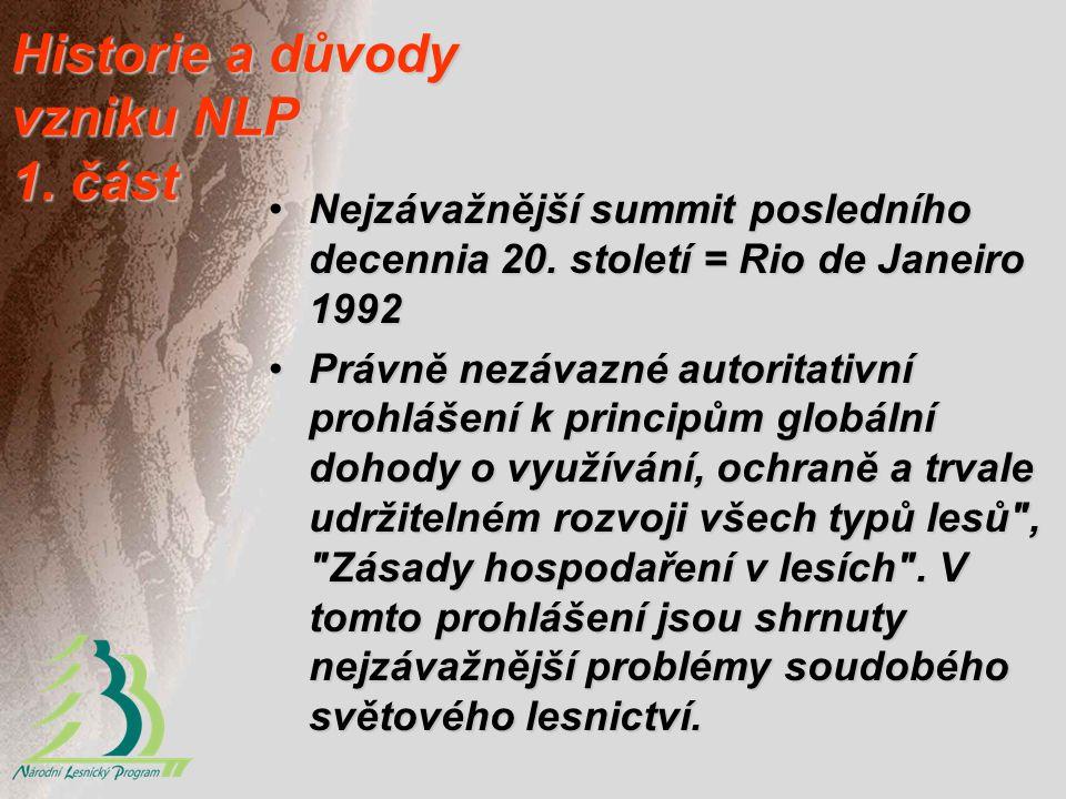 Historie a důvody vzniku NLP 1. část Nejzávažnější summit posledního decennia 20. století = Rio de Janeiro 1992Nejzávažnější summit posledního decenni