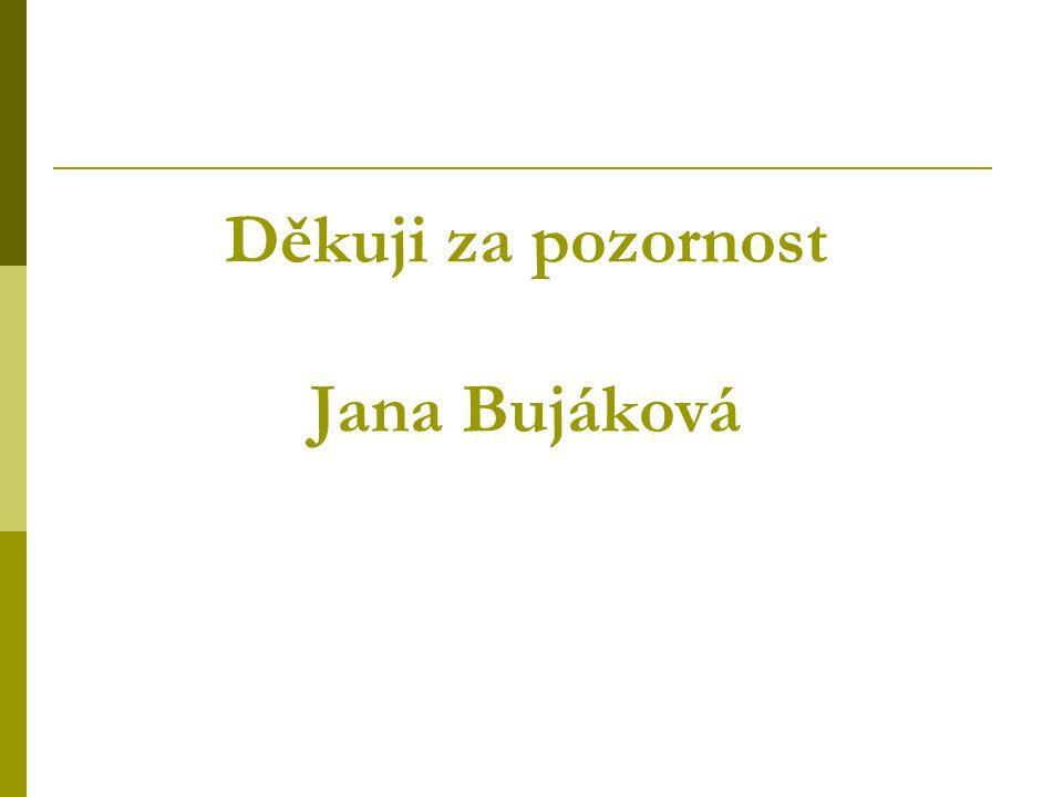 Děkuji za pozornost Jana Bujáková