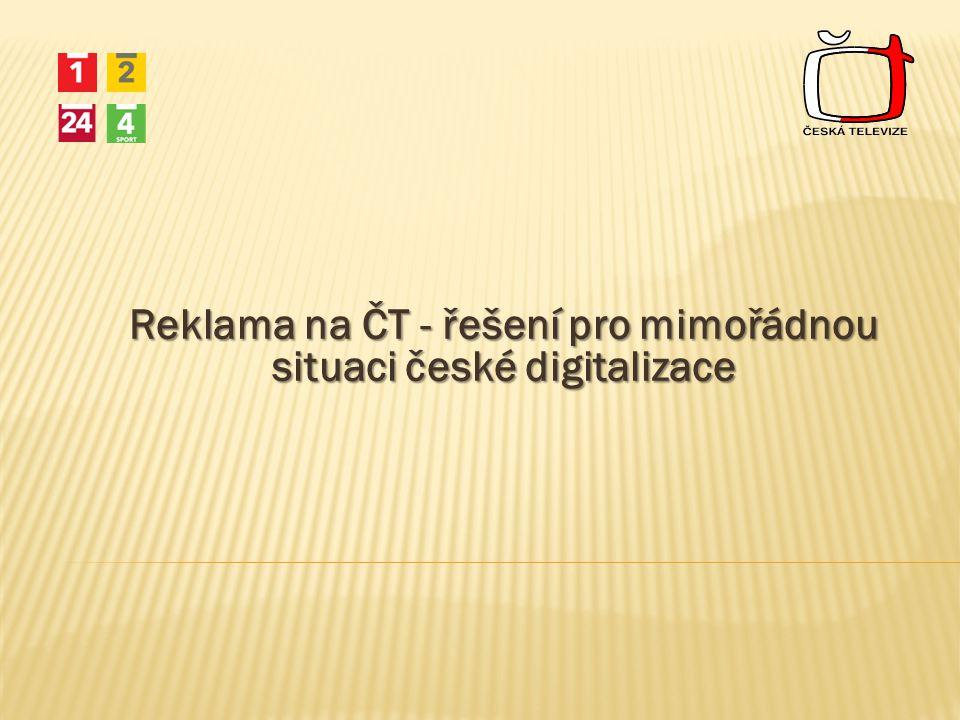 Reklama na ČT - řešení pro mimořádnou situaci české digitalizace