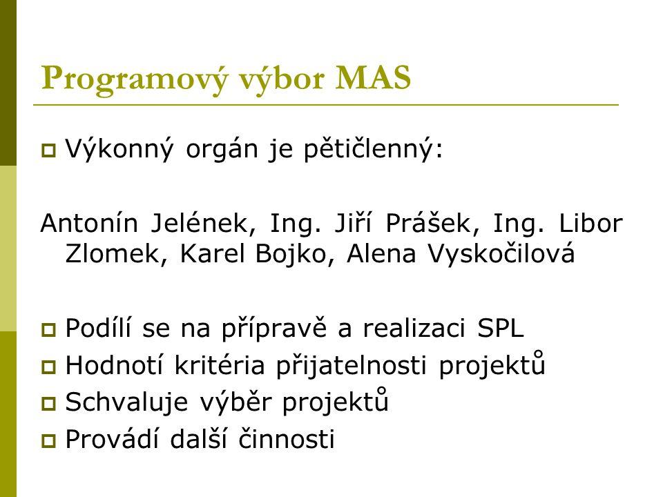 Orgány MAS Horňácko a Ostrožsko  Valná hromada MAS – je nejvyšším orgánem MAS a tvoří ji 28 členů: 8 členů je z podnikatelského sektoru 12 členů je z