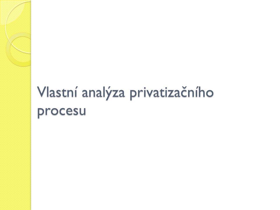 Vlastní analýza privatizačního procesu