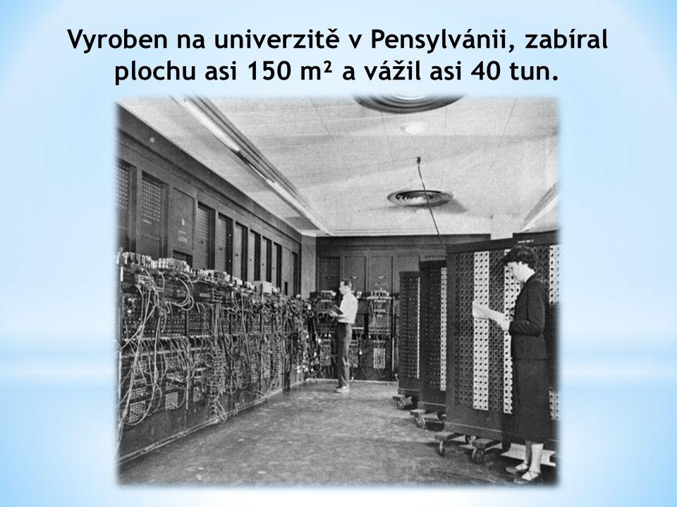 Vyroben na univerzitě v Pensylvánii, zabíral plochu asi 150 m² a vážil asi 40 tun.