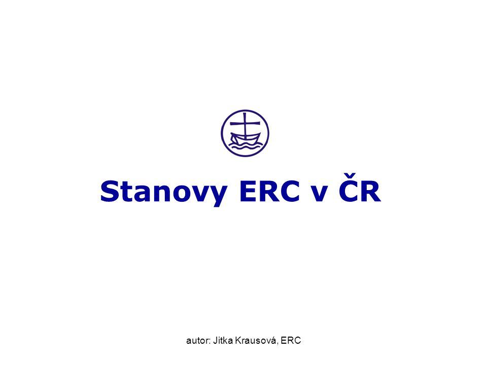 autor: Jitka Krausová, ERC Stanovy ERC v ČR