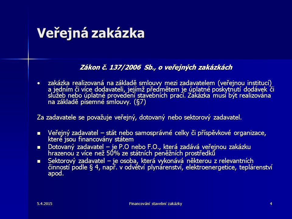 Veřejná zakázka Zákon č.