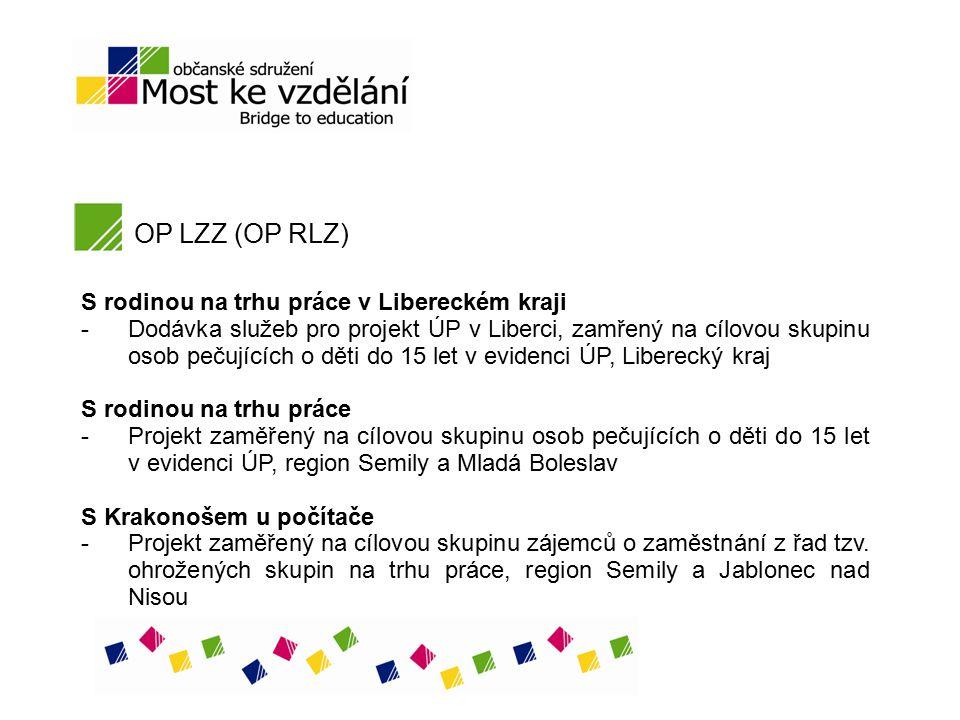 OP LZZ (OP RLZ) S rodinou na trhu práce v Libereckém kraji -Dodávka služeb pro projekt ÚP v Liberci, zamřený na cílovou skupinu osob pečujících o děti