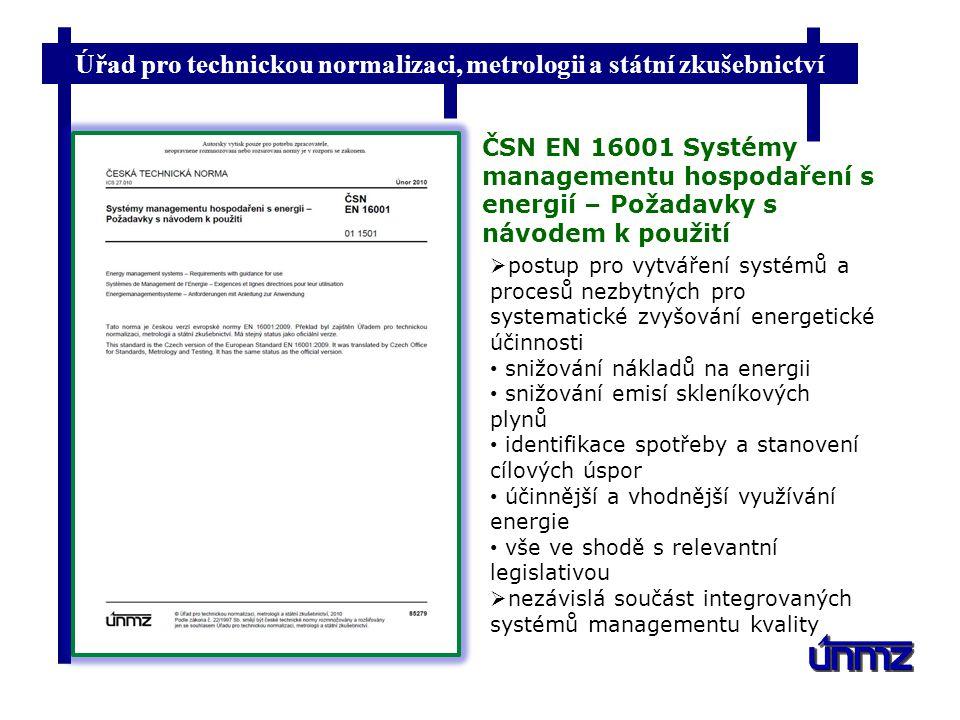Úřad pro technickou normalizaci, metrologii a státní zkušebnictví Srovnávací dokument zveřejnění na www xpublikace CEN/TR EN ISO 14001 EN ISO 9001 EN 16001