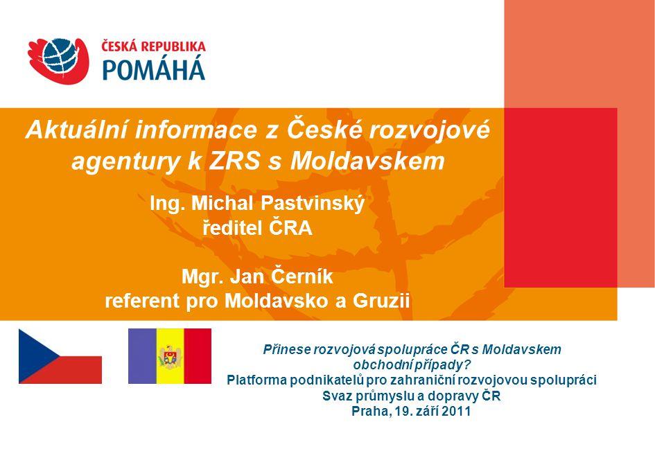 Projekty ČRA v roce 2011 projekty v partnerských zemích: celkem 360 mil.