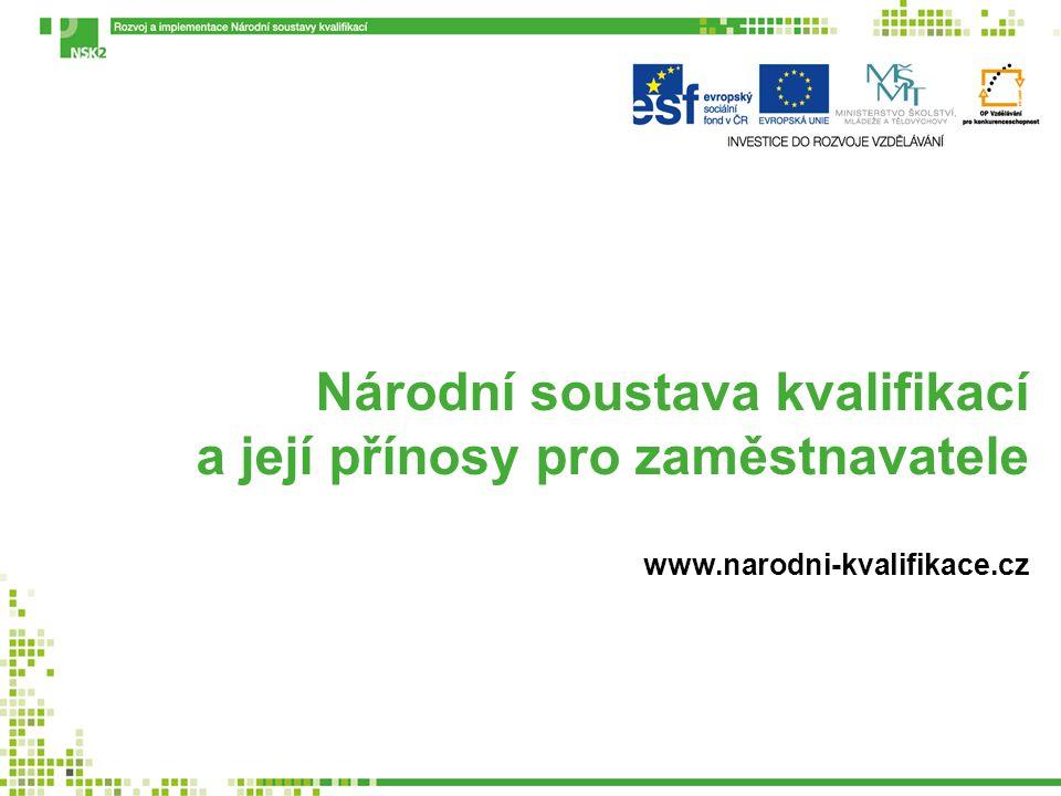 Národní soustava kvalifikací a její přínosy pro zaměstnavatele www.narodni-kvalifikace.cz