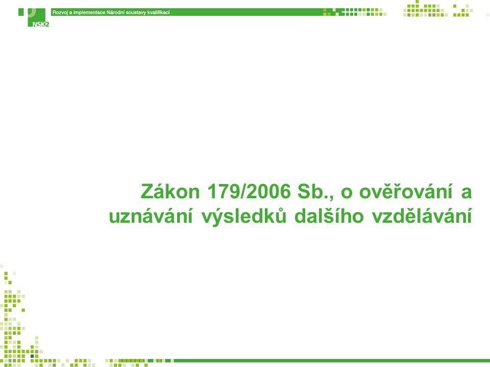 Zákon 179/2006 Sb., o ověřování a uznávání výsledků dalšího vzdělávání