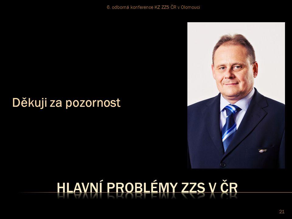 Děkuji za pozornost 6. odborná konference KZ ZZS ČR v Olomouci 21