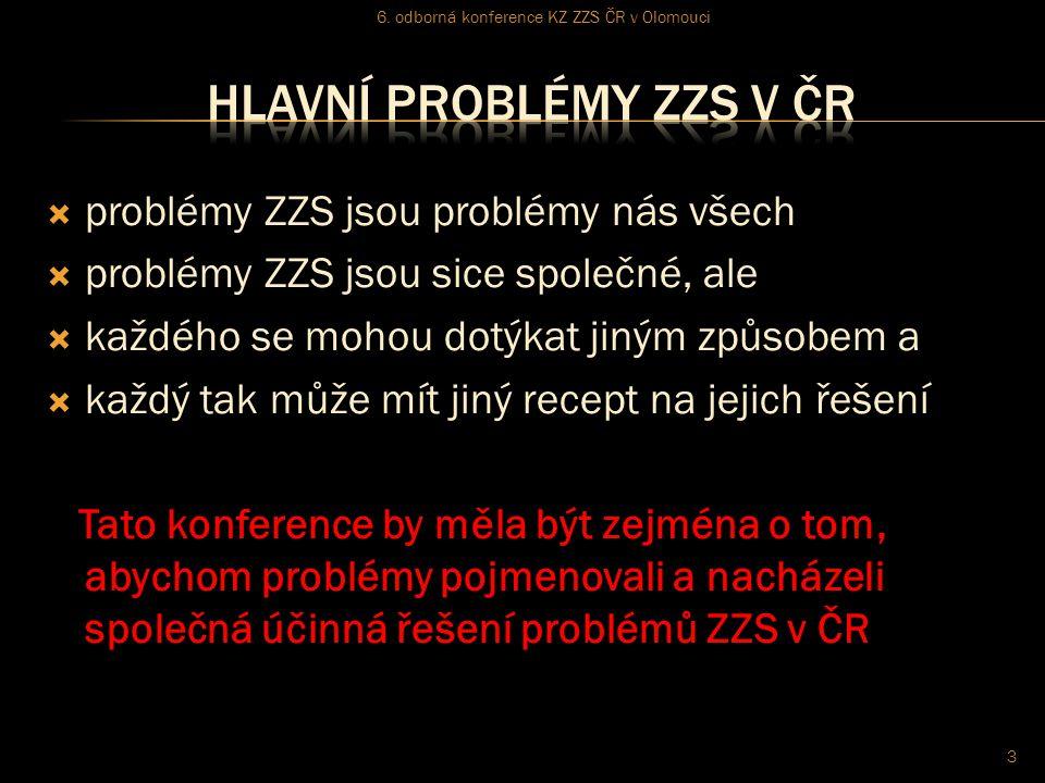  problémy ZZS jsou problémy nás všech  problémy ZZS jsou sice společné, ale  každého se mohou dotýkat jiným způsobem a  každý tak může mít jiný re