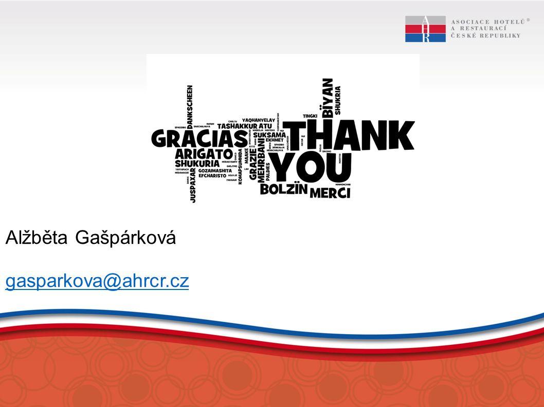 Alžběta Gašpárková gasparkova@ahrcr.cz